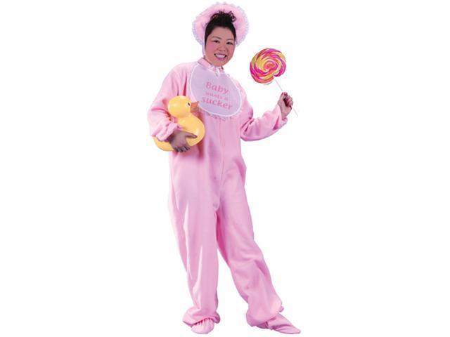 Adult Baby Halloween Costume - Pink