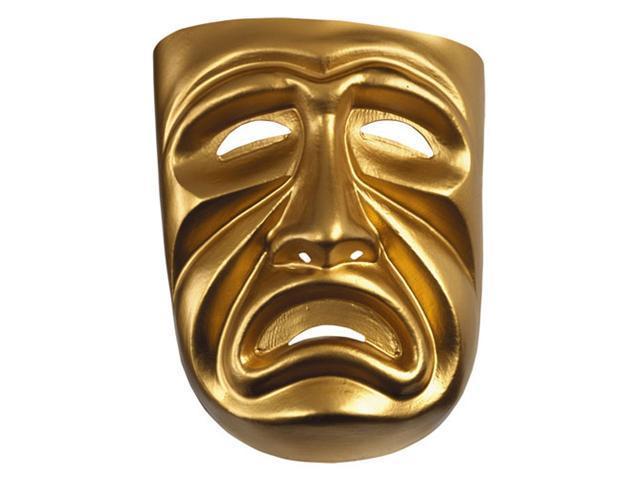 Drama Mask Gold- Tragedy