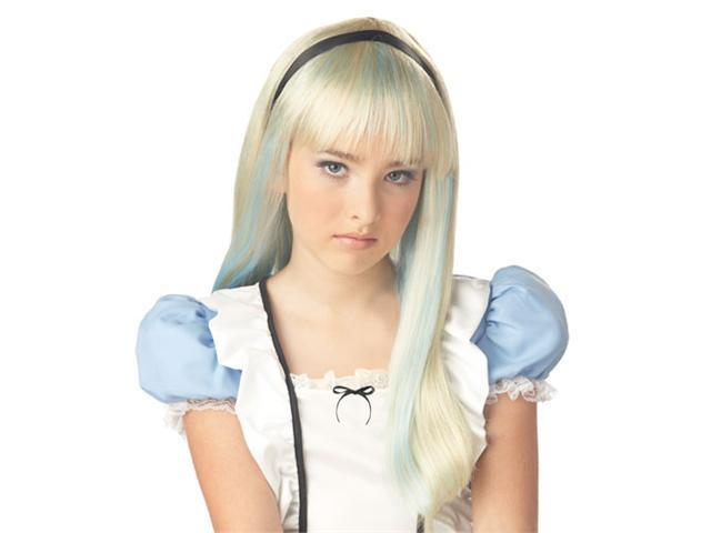 Child Alice Wig - Blonde and Blue