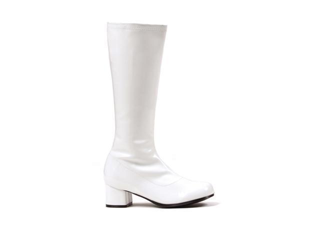 Girls White Go Go Boots - Dora