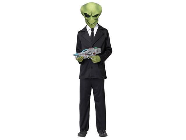Kids Alien Agent Boys Sci Fi Halloween Costume