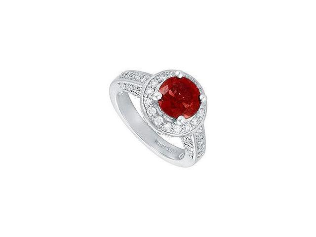 Ruby and Diamond Engagement Ring Platinum 4.00 CT TGW