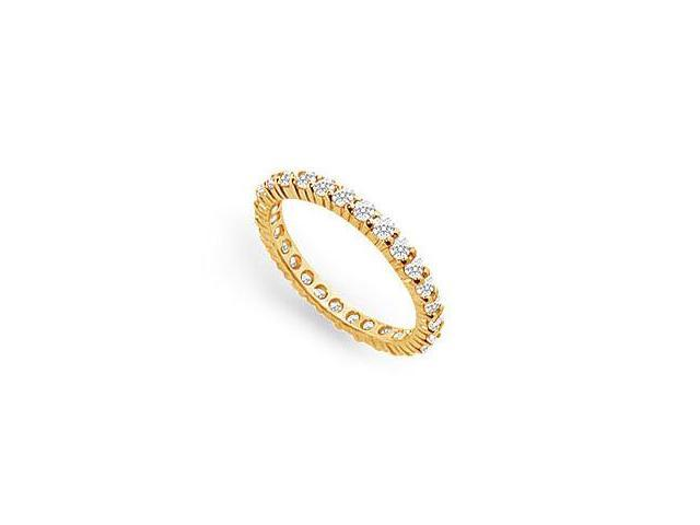 Diamond Eternity Ring in 14K Yellow Gold 0.75 CT TDW First Wedding Anniversary Jewelry
