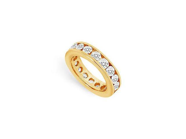 Two and Half Carat Diamond Eternity Ring in 14K Yellow Gold Third Wedding Anniversary Gift