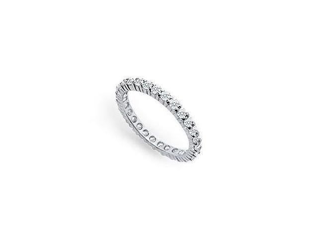 Platinum Diamond Eternity Band 0.75 CT TDW First and Second Wedding Anniversary Jewelry
