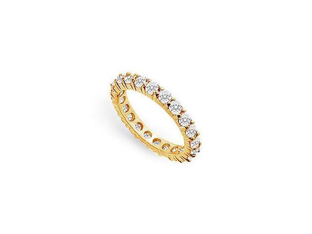 1.5 Carat Diamond Eternity Ring in 14K Yellow Gold Second Wedding Anniversary Jewelry