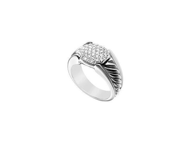 Diamond Rope Ring 14K White Gold 0.50 CT Diamonds