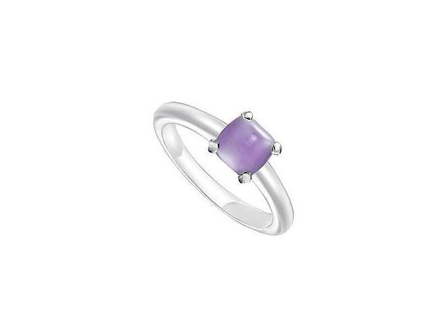 Blue Chalcedony Ring 14K White Gold 5.00 CT TGW