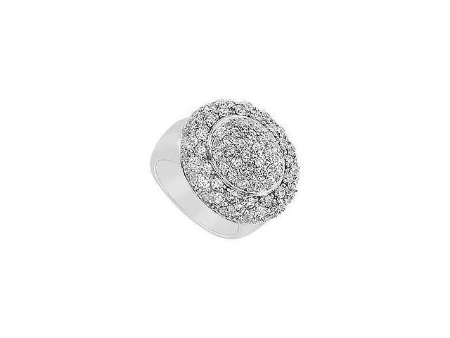 Diamond Ring 14K White Gold 2.50 CT Diamonds