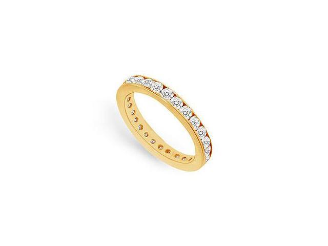 Diamond Eternity Rings in 14K Yellow Gold 0.75 CT TDW First Wedding Anniversary Jewelry