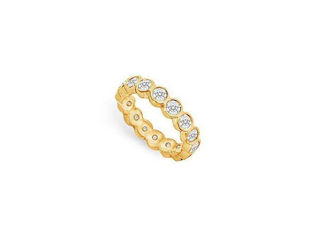 One and Half Carat Diamond Eternity Band in 14K Yellow Gold Second Wedding Anniversary Bands