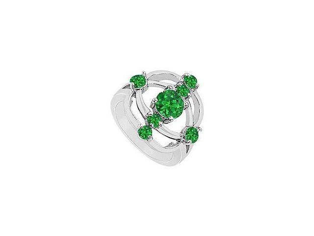 Emerald Rng 14K White Gold 1.00 CT TGW