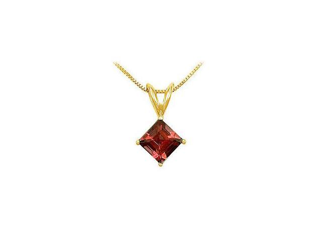 Ruby and Diamond Engagement Ring 14K Yellow Gold 0.66 CT TGW