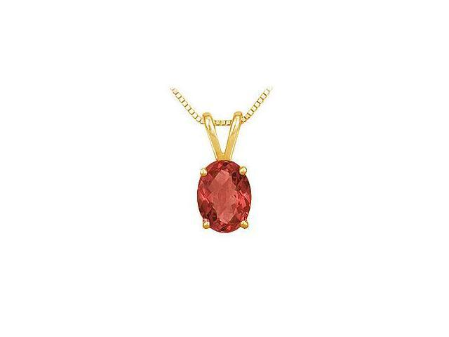 Ruby and Diamond Engagement Ring 14K Yellow Gold 1.25 CT TGW