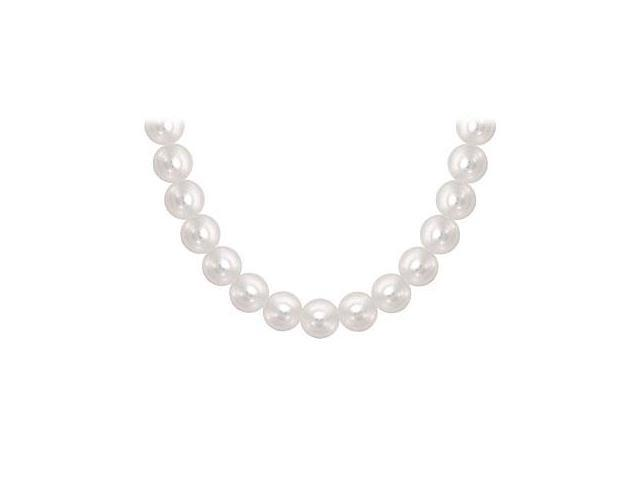 South Sea Pearl Necklace 18K White Gold 12.00 14.00 MM