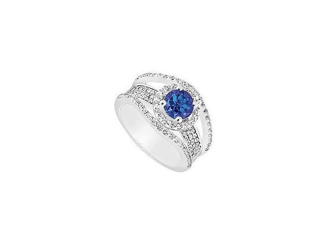 Diamond Engagement Ring 18K White Gold 1.50 CT Diamonds