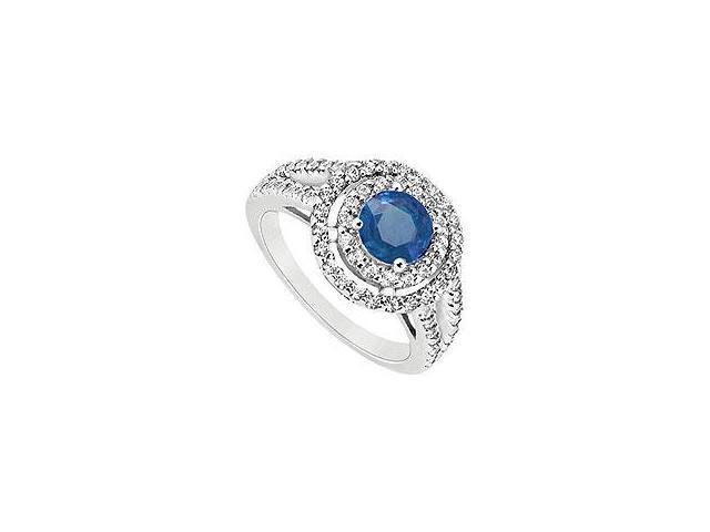 Diamond Engagement Ring 18K White Gold 0.66 CT Diamonds