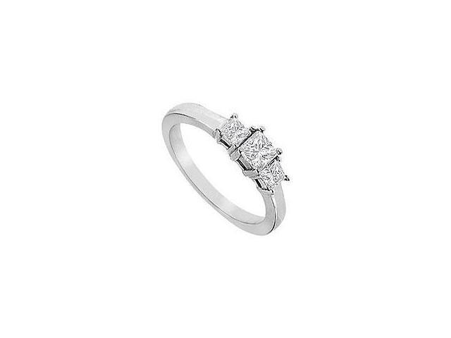 Diamond Engagement Ring 18K White Gold 1.00 CT Diamonds