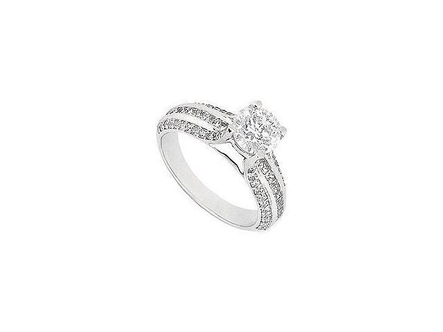 Diamond Engagement Ring Platinum 2.00 CT Diamonds