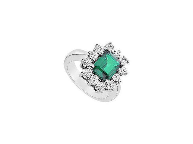 Ruby and Diamond Ring 14K White Gold 1.50 CT TGW