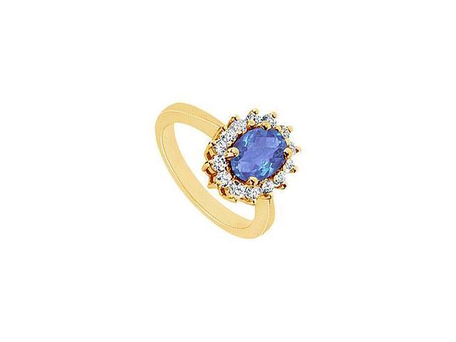 Diamond Ring 14K Yellow Gold 0.50 CT Diamonds