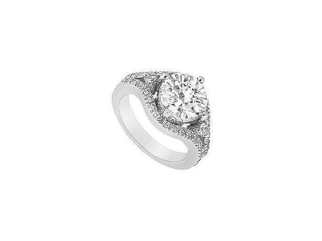 Diamond Engagement Ring Platinum 1.50 CT Diamonds