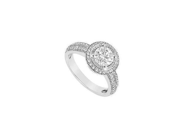 Diamond Engagement Ring 14K Yellow Gold 0.75 CT Diamonds