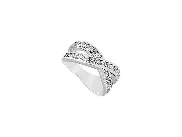 Sapphire and Diamond Engagement Ring 14K White Gold 1.00 CT TGW
