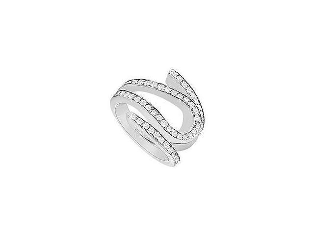 Emerald and Diamond Ring 14K White Gold 2.75 CT TGW