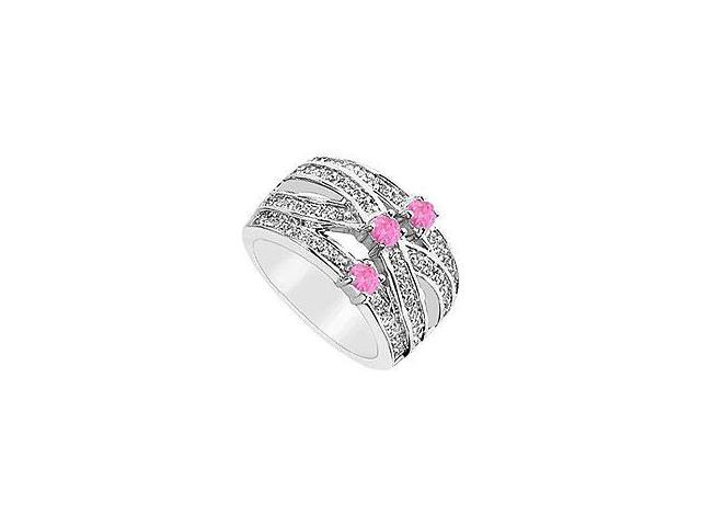 Ruby and Diamond Ring 14K White Gold 2.00 CT TGW