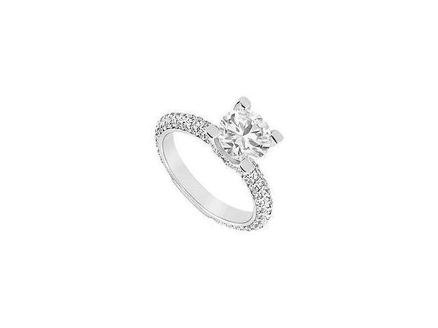 Diamond Engagement Ring 14K Yellow Gold 1.25 CT Diamonds