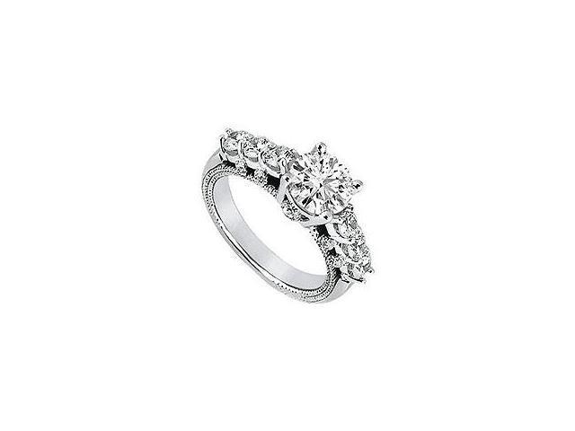 Diamond Engagement Ring Platinum 0.75 CT Diamonds