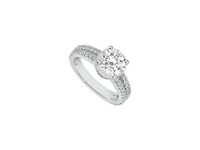 Three Stone Diamond Engagement Ring Platinum 1.00 CT Diamonds