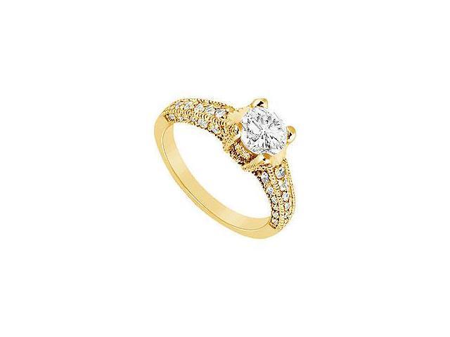 Diamond Engagement Ring Platinum 1.75 CT Diamonds