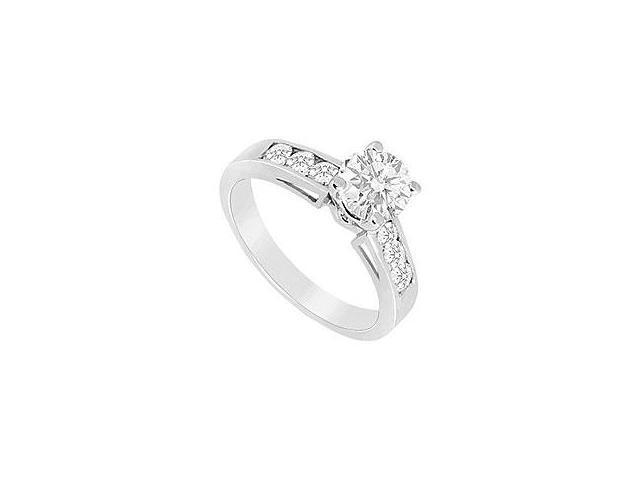 Sapphire and Diamond Engagement Ring 14K Yellow Gold 1.00 CT TGW