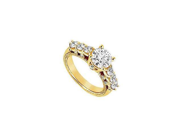 Diamond Engagement Ring Platinum 1.00 CT Diamonds