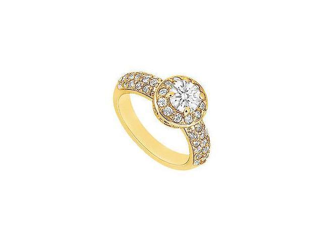 Diamond Engagement Ring 14K Yellow Gold 1.00 CT Diamonds
