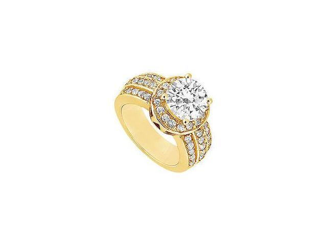 Diamond Engagement Ring 14K Yellow Gold 0.66 CT Diamonds