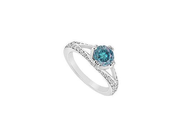 Emerald and Diamond Ring 14K Yellow Gold 1.50 CT TGW