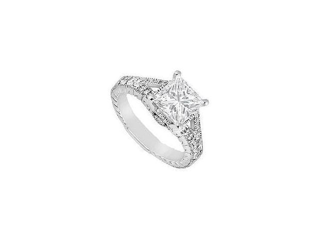Sapphire and Diamond Ring 14K Yellow Gold 1.50 CT TGW