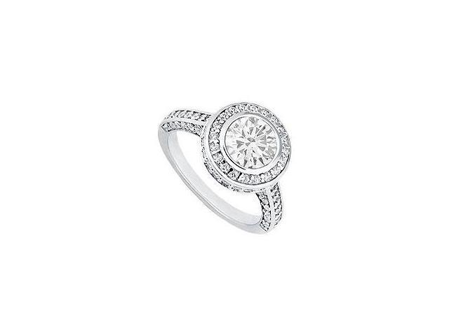 Diamond Engagement Ring 14K Yellow Gold 1.50 CT Diamonds