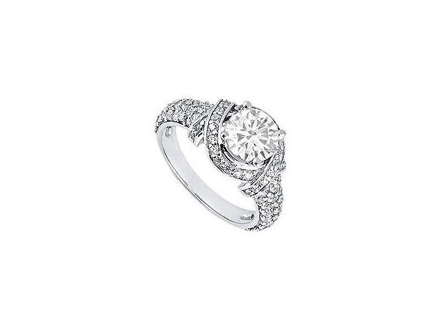 Diamond Engagement Ring 14K Yellow Gold 2.25 CT Diamonds