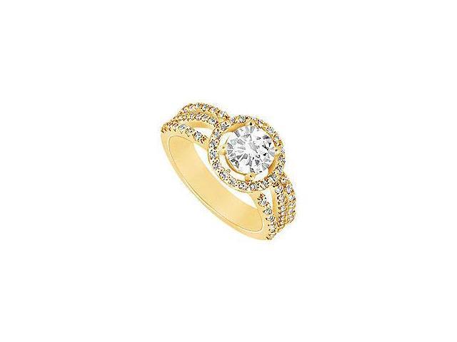 Diamond Ring 14K White Gold 0.50 CT Diamonds