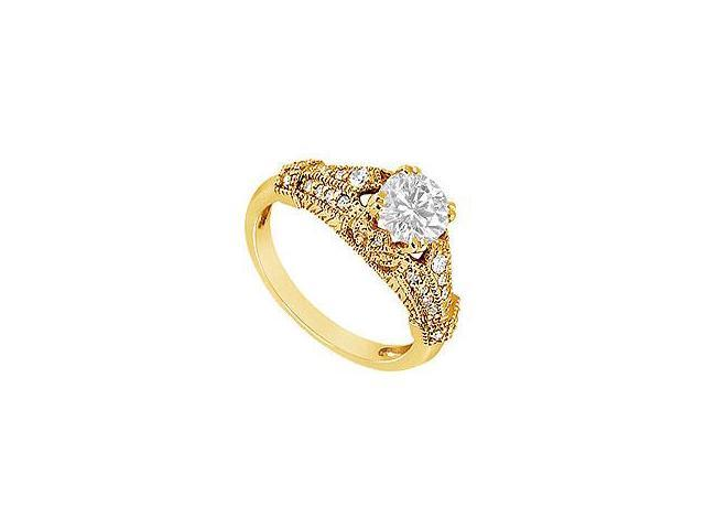 Diamond Crossover Ring 14K White Gold 2.00 CT Diamonds