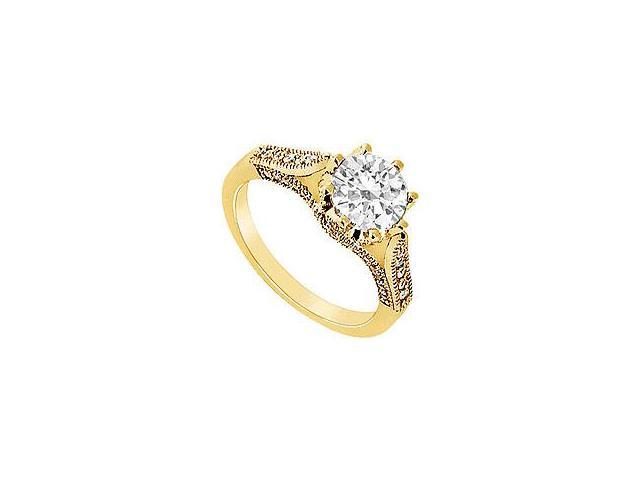 Diamond Row Ring 14K White Gold 2.00 CT Diamonds