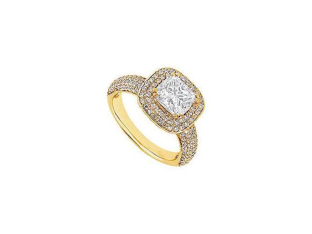 Diamond Ring 14K White Gold 1.50 CT Diamonds