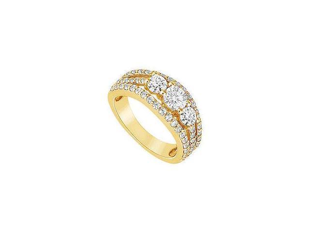 Diamond Crossover Ring 14K White Gold 0.75 CT Diamonds