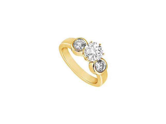 Diamond Row Ring 14K White Gold 1.50 CT Diamonds