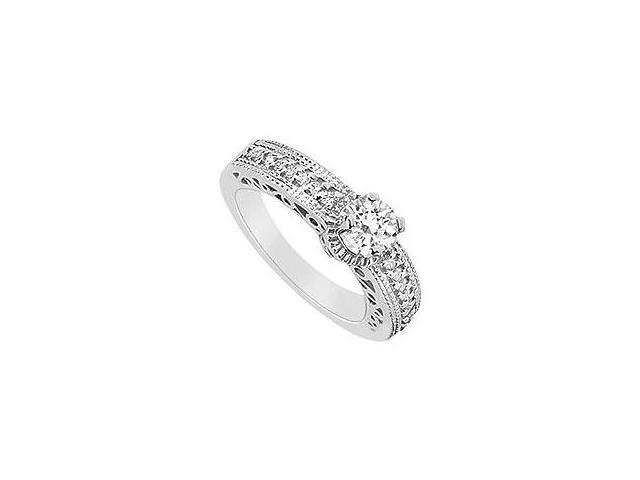 Diamond Ring 14K White Gold 0.75 CT Diamonds