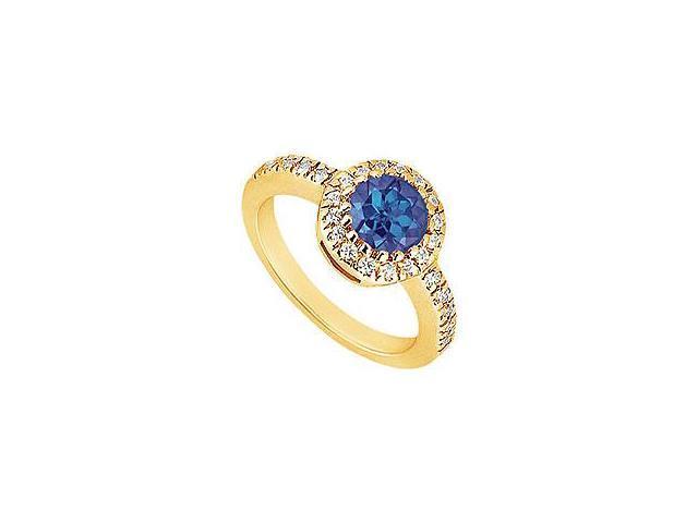 Three Stone Diamond Ring 14K Yellow Gold 1.75 CT Diamonds